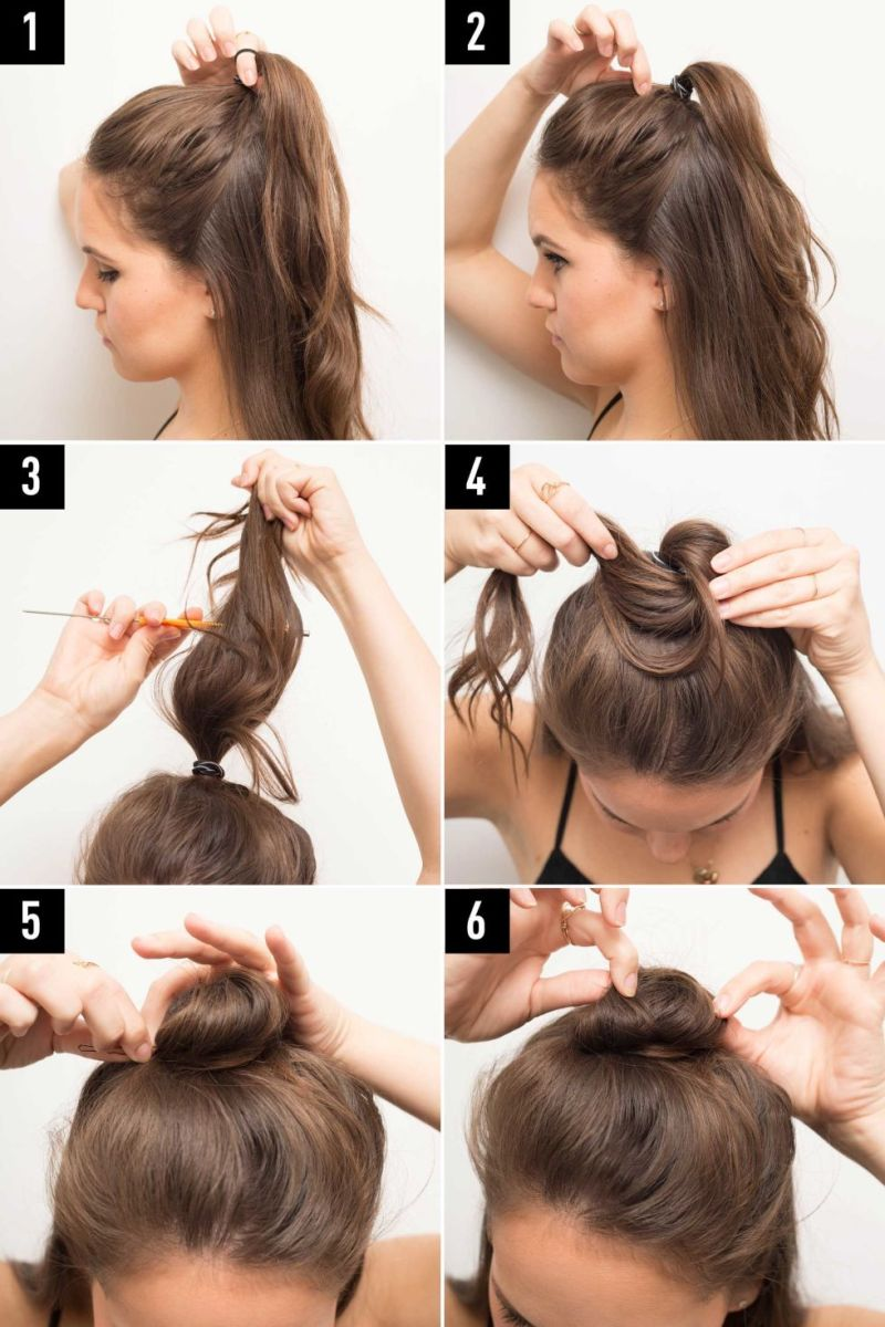 how to make a sock bun out of a sock